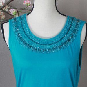 CWC Beaded Tank NWOT Size S